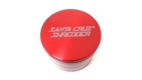 Santa Cruz Shredder 4-Piece Large Red Grinder