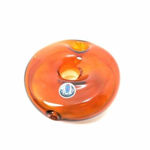 Crush Glass Donut Pipe Bowl