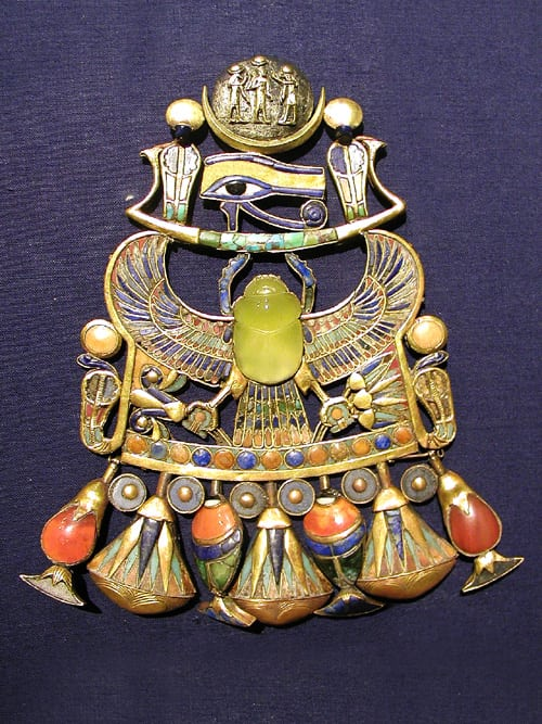 King Tut's Glass Pendant