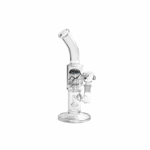 Alpine Glass Double Perc Water Pipe