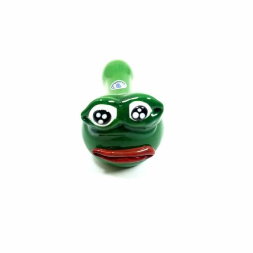 Crush Glass Sad Pepe Pipe Front