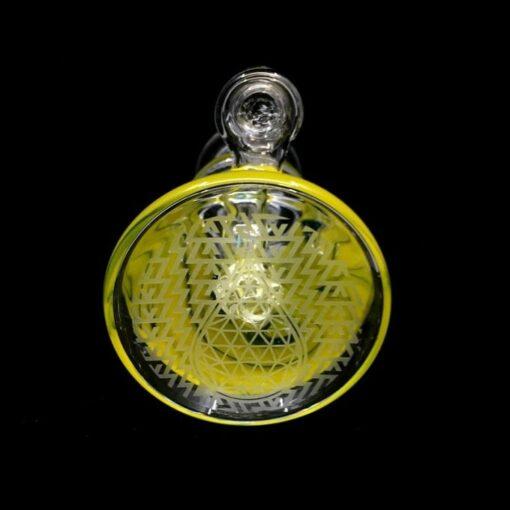High Tech Glass Works Mini Beaker Yellow Bottom