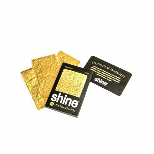 Shine 24K Gold Rolling Papers 12 Pack