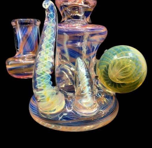 STF Glass Fumed Rig 3 Marble Leaf